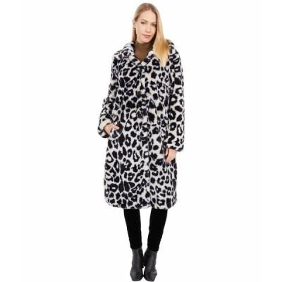 ラブトークン コート アウター レディース Dayna Leopard Faux Fur Coat Animal