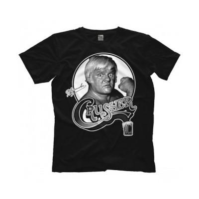 """クラッシャー・リソワスキー(ザ・クラッシャー) Tシャツ「CRUSHER LISOWSKI """"Da Crusher Vintage Black"""" Tシャツ」 アメリカ直輸入プロレスTシャツ"""