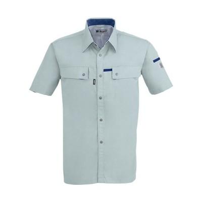 ジーベック(XEBEC) クレスタ21半袖シャツ 605/ミストグリーン 1552 作業服 作業着 ワークウエア ワークウェア メンズ レディース