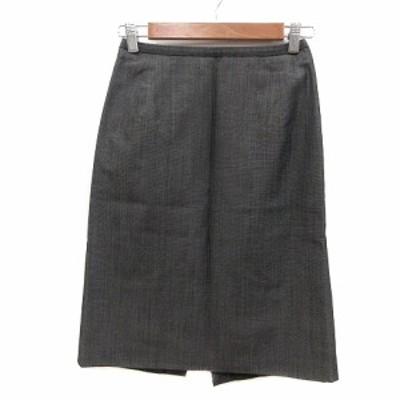 【中古】ボッシュ BOSCH タイトスカート ひざ丈 ウール 38 黒 ブラック /MN レディース