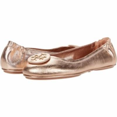 トリー バーチ Tory Burch レディース スリッポン・フラット シューズ・靴 Minnie Travel Ballet w/ Leather Logo Rose Gold/Rose Gold