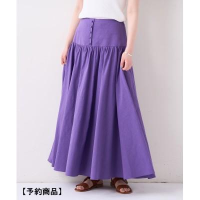 《4/7(水)12:00 予約スタート》綿麻ギャザースカート