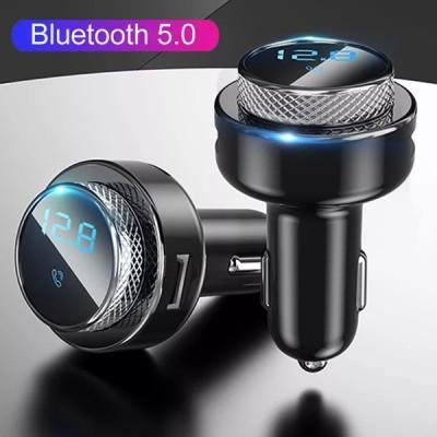 JINSERTA QC3.0 クイック充電器車  Bluetooth 5.0 FM トランスミッターハンズフリーワイヤレス TFU ディスク Mp3