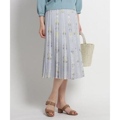 SunaUna / スーナウーナ 【洗える】フラワーアコーディオンプリーツスカート