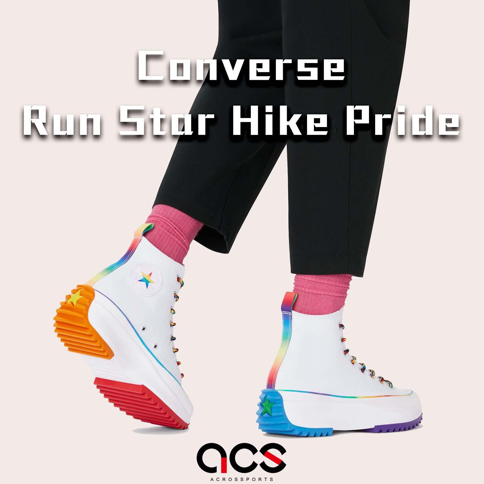 Converse 休閒鞋 Run Star Hike Hi 白 彩虹 Pride 厚底 男女鞋 ACS 170824C