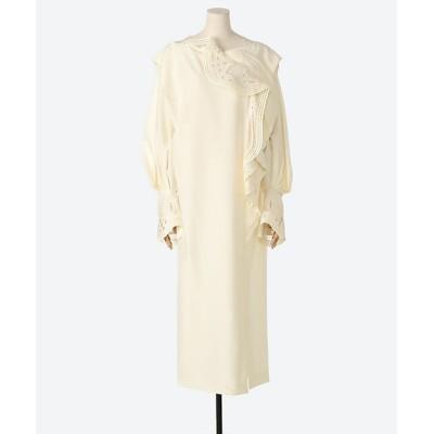 <Mame Kurogouchi(Women)/マメ クロゴウチ> Embroidered Drape Dress WHITE【三越伊勢丹/公式】