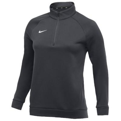 ナイキ Nike レディース フィットネス・トレーニング トップス Team Therma 1/4 Zip Top Anthracite/White