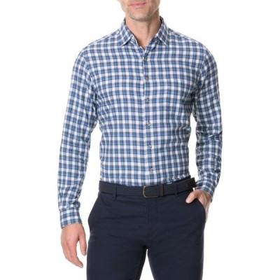 ロッドアンドガン メンズ シャツ トップス Monaghan Regular Fit Check Flannel Button-Up Shirt INDIGO