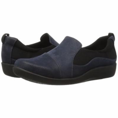 クラークス Clarks レディース ローファー・オックスフォード シューズ・靴 Sillian Paz Navy Synthetic Nubuck