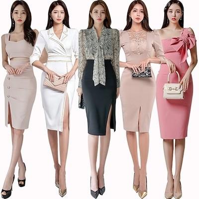 新作 韓国ファッション/ニットワンピース/ パーティードレス/ ワンピース/パーティー/ドレス ワンピ/ ショートドレス 結婚式 二次会