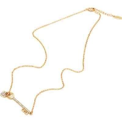 ピアモントジュエリー Goldplated Austrian Crystal Heart and Key Charm Necklace - Gold