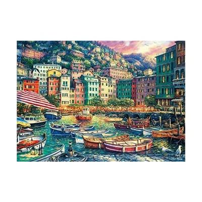 ビバリー 600ピース ジグソーパズル 夕暮れの美しい港(38×53cm)66-182 緑