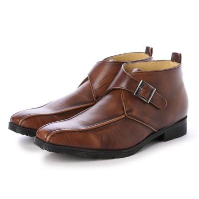 ウィルソン Wilson ビジネスシューズ メンズ 4cm防水、防滑 チャッカ ベルトブーツ 紳士靴 (D.BROWN)