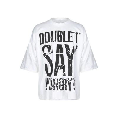 ダブレット DOUBLET T シャツ ホワイト S コットン 100% T シャツ