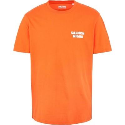 パレットカラフルグッズ PALETTE COLORFUL GOODS メンズ Tシャツ トップス Salmon Nigiri Orange