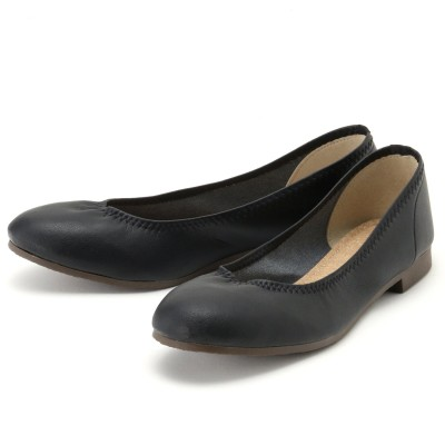 【日本製】履き口ゴムで足にフィット♪柔らか素材のバレエシューズ