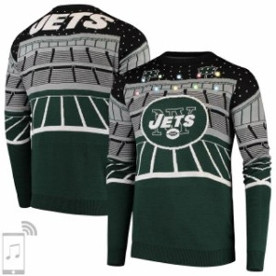 Forever Collectibles フォーエバー コレクティブル 服 スウェット New York Jets Green Bluetooth Light Up Ugly Sweater