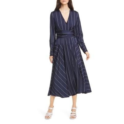ラ リンニュ レディース ワンピース トップス Stripe Dress NAVY