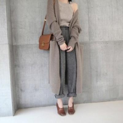 韓国ファッション カジュアル ゆったりする ニットトップス