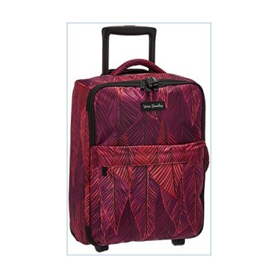 Vera Bradley Women's Small Foldable Rolling Suitcase Luggage, Banana Leaves Fuchsia並行輸入品