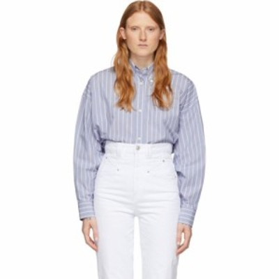 イザベル マラン Isabel Marant レディース ブラウス・シャツ トップス Blue Silk Macao Shirt Blue