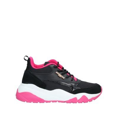 ROBERTO CAVALLI SPORT スニーカー&テニスシューズ(ローカット) ブラック 35 革 / 紡績繊維 スニーカー&テニスシューズ(