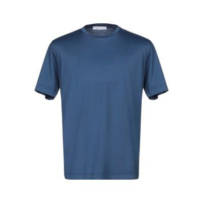 FILIPPO DE LAURENTIIS T シャツ ダークブルー 52 コットン 100% T シャツ