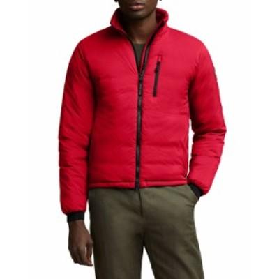 カナダグース メンズ コート アウター Men's Lodge Zip-Front Puffer Coat RED
