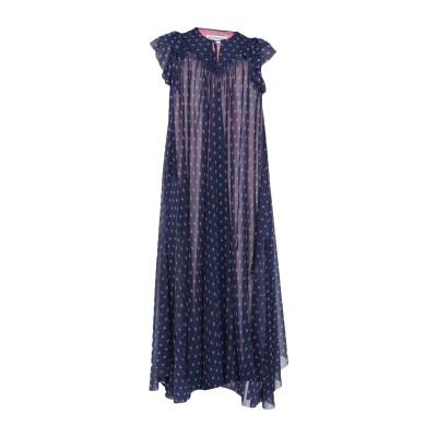 バレンシアガ BALENCIAGA 7分丈ワンピース・ドレス ダークブルー 34 ポリエステル 100% 7分丈ワンピース・ドレス