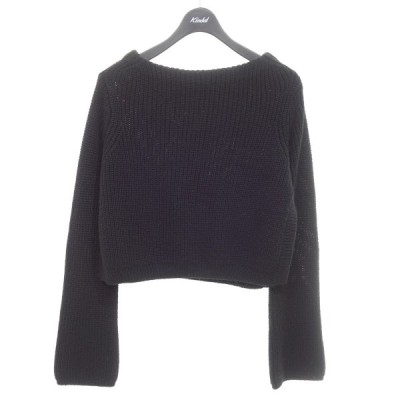 IENA サイドスリット長袖ニット セーター ブラック (京都店) 201227