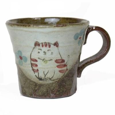 マグカップ 赤ねこ 土物 コーヒーカップ 国産 プレゼント