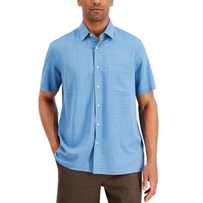 タッソエルバ シャツ トップス メンズ Men's Textured Silk Blend Shirt, Created for Macy's Chalky Blue