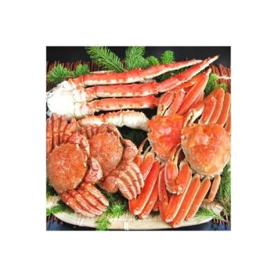 北海道ブランド 蟹セット カニセット北の三大蟹宝箱 知床 3kg前後タラバガニ 毛ガニ ズワイガニを厳選(ボイル済どさんこファクトリー北海道