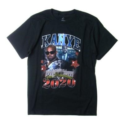 KANYE WEST カニエ・ウエスト KANYE FOR PRESIDENT T-SHIRTS カニエ フォー プレジデント Tシャツ 大統領宣言 プリント YEEZY メンズ レディース ブラック