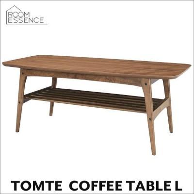 コーヒーテーブル L 幅105cm 机 ローテーブル センターテーブル ウォールナット 木製 北欧 TAC-228WAL