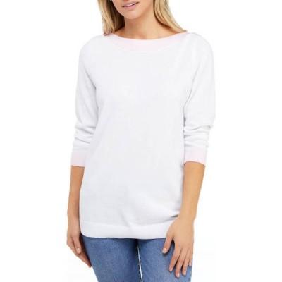 キム ロジャース レディース ニット・セーター アウター Women's 3/4 Sleeve Trim Sweater