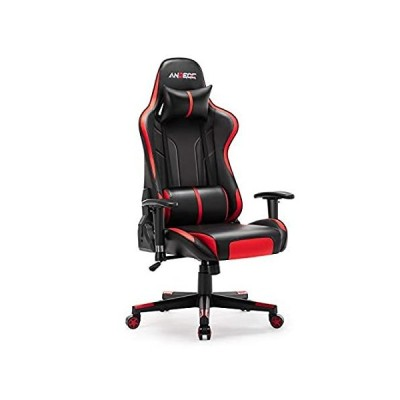 ANBEGE Gaming Chair Ergonomic Racing Style Game Chair Height Adjustable Hig 並行輸入品