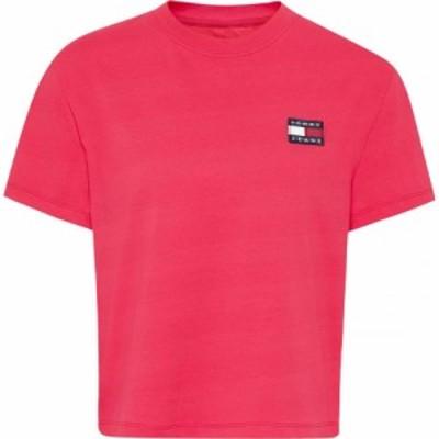 トミー ジーンズ Tommy Jeans レディース Tシャツ トップス Tee BLUSH RED