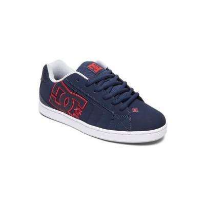 スニーカー ディーシーシューズ DC Shoes Men's Net Low Top Sneaker Shoes Navy Blue Red Footwear Skate Casual