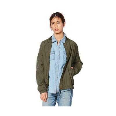 エーグル OUTER WEARS 公式 撥水 リブカラー ショートジャケット レディース カーキ 日本 038 (日本サイズM相当)