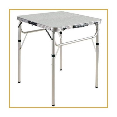 Varbucamp 24''x24'' Folding Camping Table,Aluminum Ultralight Height Adjustable Camp Table,Small Folding Table for Outdoor Camp Picnic,2 Hei