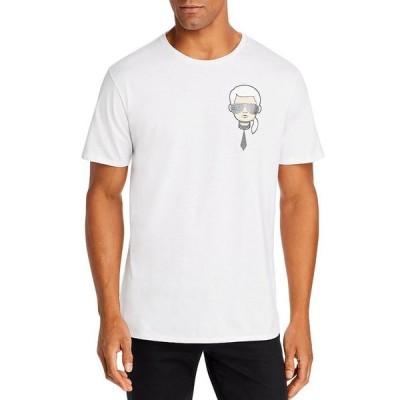 カール ラガーフェルド メンズ Tシャツ トップス Mini Karl Head Graphic Tee