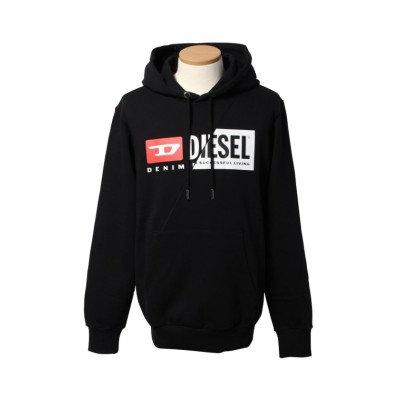 【ディーゼル】 DIESEL(apparel) A00339 0IAJH スウェットパーカー メンズ ブラック L DIESEL