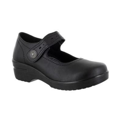イージーストリート サンダル シューズ レディース Easy Works by Letsee Slip Resistant Clogs Black