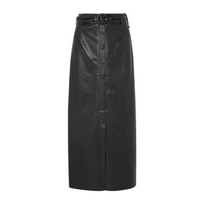ナヌーシュカ NANUSHKA ロングスカート ブラック XS ポリエステル 65% / ポリウレタン 35% ロングスカート