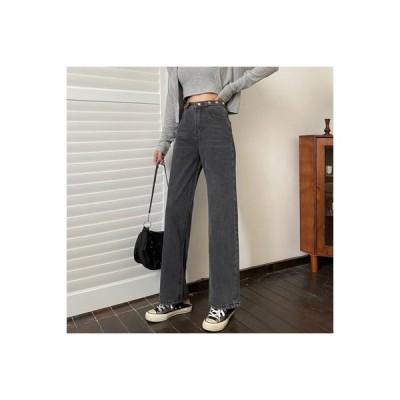 【送料無料】女性のジーンズ 荷重 秋 ファッション ストレートジーンズ ハイウエスト | 364331_A63604-8639966
