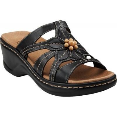 クラークス Clarks レディース サンダル・ミュール シューズ・靴 Lexi Myrtle Black Full Grain Leather