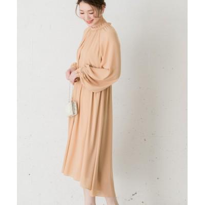 ドレス troisiemechaco ギャザーボリュームスリーブドレス