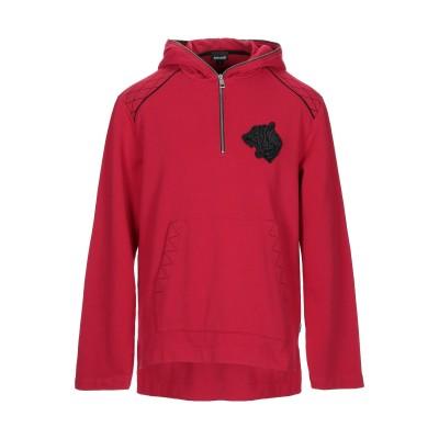 ジャストカヴァリ JUST CAVALLI スウェットシャツ レッド XS コットン 100% スウェットシャツ