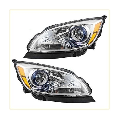 Replacement Driver and Passenger Set Halogen Headlights Compatible with 2012-2017 Verano 並行輸入品